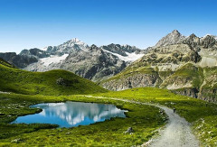cesta švajčiarskými alpami