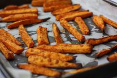 Ako urobiť hranolky zo sladkých zemiakov