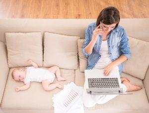 Praca doma na materskej