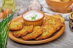 zemiakové placky s bylinkovou čapičkou