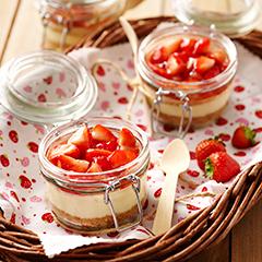 recept na dezert zo smotany s ovocím