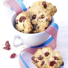 brusnicové cookies