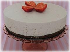 ako na nepečenú tvarohovú tortu