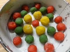 recept ako upiecť pestrofarebné buchty
