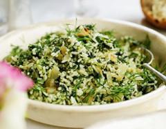 recept na výborné špenátové rizoto