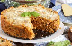 recept na zdravý špagetový koláč