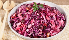 recept na šalát z červenej kapusty