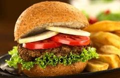 šošovicový hamburger