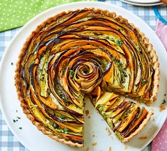 špirálový zeleninový koláč