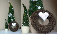 Ako vyrobiť dekoračný stromček z vetiev