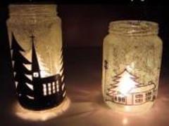 Ako vyrobiť zimný svietnik doma