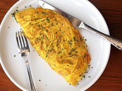 ako pripraviť tvarohovú omeletu