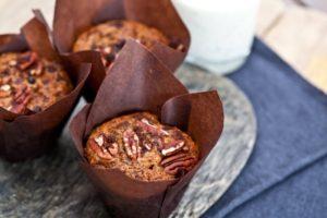 ako pripraviť zdravé orechové muffiny