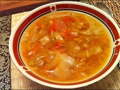 polievku zhlávkovej kapusty