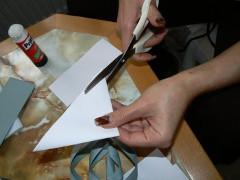 príprava šablóny na zimný svietnik