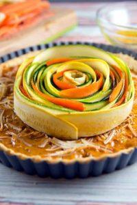 recept na špirálový zeleninový koláč