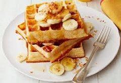recept na banánovo-ovsené wafle