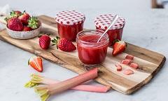 recept na jahodovo-rebarborový džem