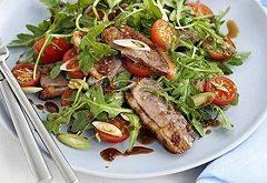 recept na kačacie prsia so zeleninovým šalátom