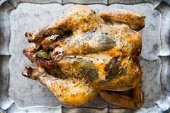 recept na kurča s bylinkovou plnkou
