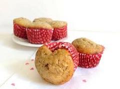 recept na valentínske muffiny