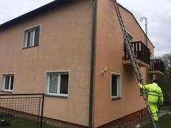 umytie fasády domu