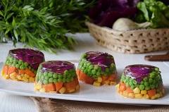 zeleninové aspikové misky