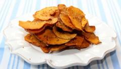ako urobiť slané chipsy z tekvice