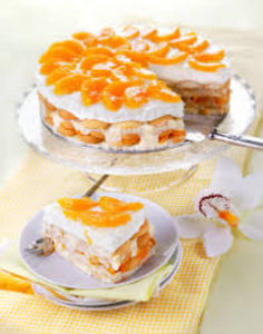 broskyňovú tortu