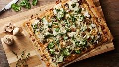 hubová pizza na plech