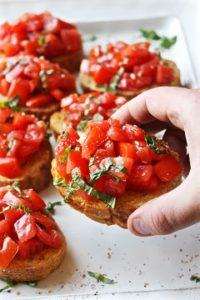 paprikové bruschetty