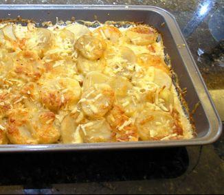 príprava ľahkých zapečených zemiakov