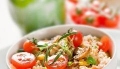príprava ryžového šalátu