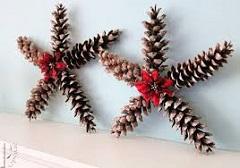 prírodné vianočné ozdoby zo šišiek