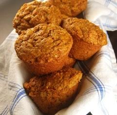 recept na špaldovo-mrkvové muffiny