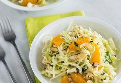 recept na kapustový šalát s pomarančom