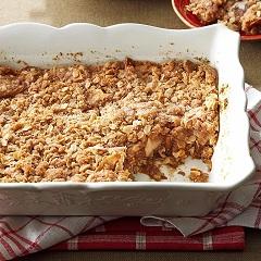 recept na sypaný jablkový koláč
