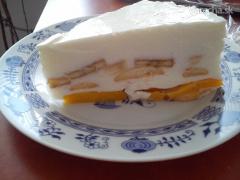 tvarohovo-broskyňovú tortu