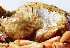 zvyšky pečeného kurčaťa