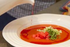 ako pripraviť malinové gazpacho