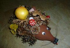 ako si vyrobiť jesenného ježka