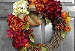 ako si vyrobiť jesenný venic z prírodných materiálov
