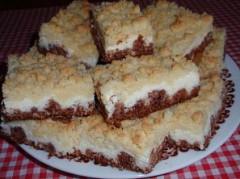 ako urobiť drobenkový koláč s pudingom