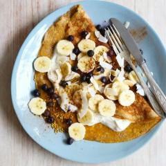 recept na výbornú zdravú omeletu z banánu