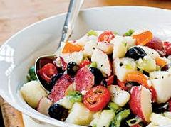 recept na letný zemiakový šalát