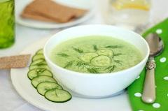 uhorková polievka na studeno