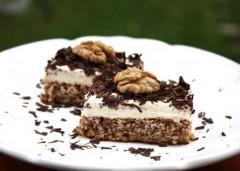 recept na výborný krehký orechovo makový koláč