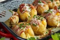 zapečené plnené zemiaky