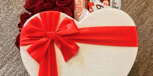 Valentínsky box plný rúži