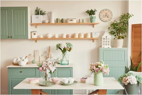 Pekné pastelové farby v domácnosti